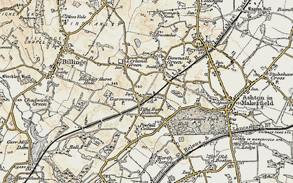 Old map of Tithe Barn Hillock in 1903