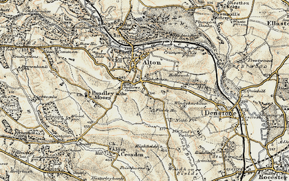 Old map of Tithebarn in 1902
