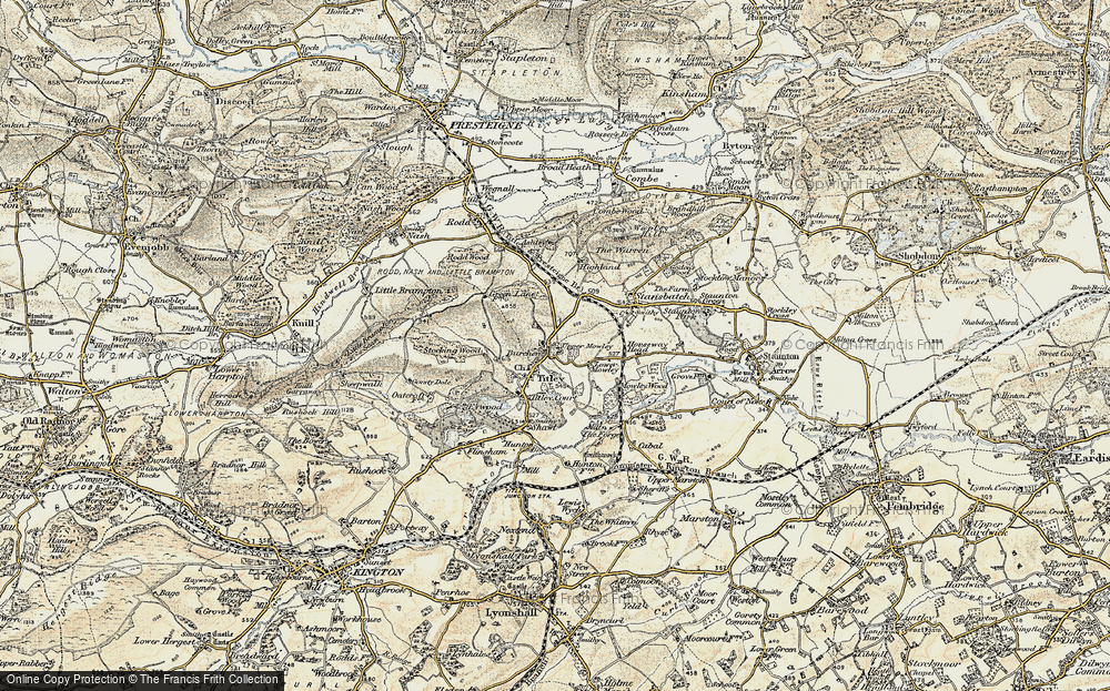 Old Map of Titley, 1900-1903 in 1900-1903