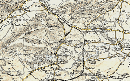 Old map of Titley in 1900-1903