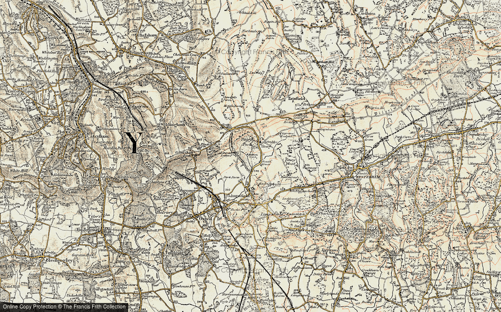 Old Map of Historic Map covering Titsey Park in 1897-1902