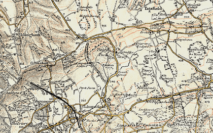 Old map of Titsey in 1897-1902