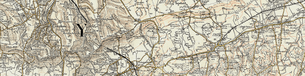 Old map of Titsey Park in 1897-1902
