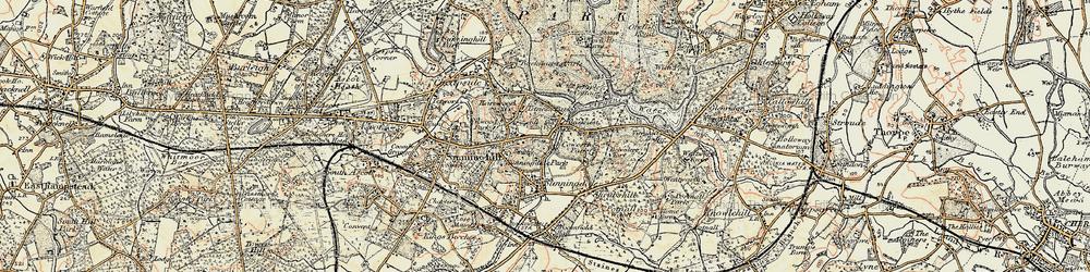 Old map of Tittenhurst in 1897-1909