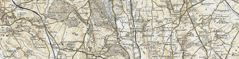 Old map of Tittensor in 1902