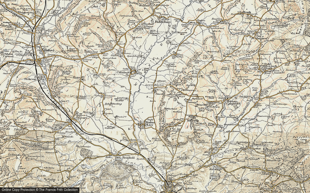 Old Map of Titterhill, 1901-1902 in 1901-1902