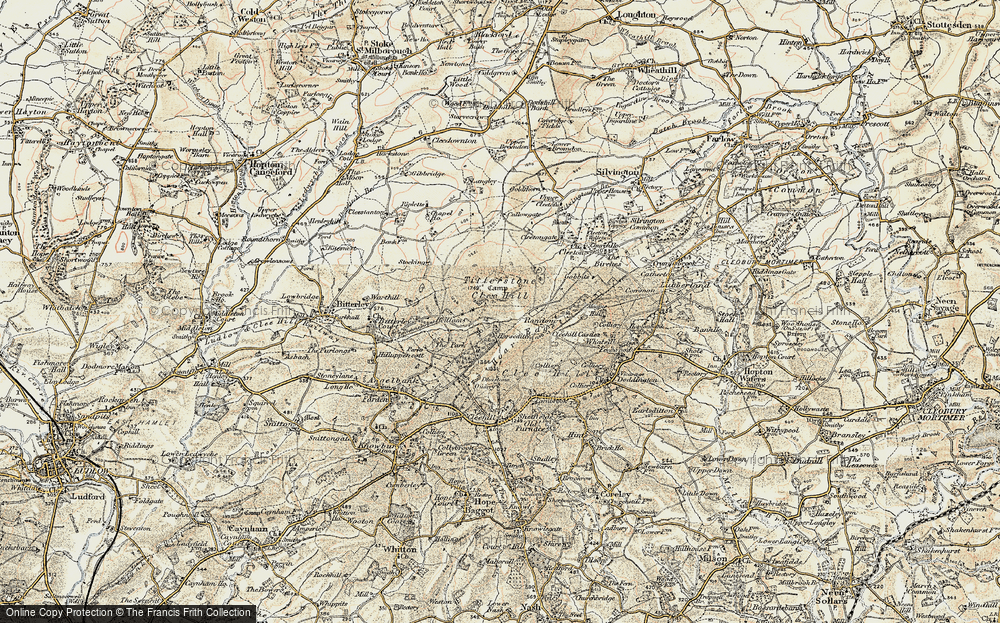 Old Map of Titterstone Clee Hill, 1901-1902 in 1901-1902