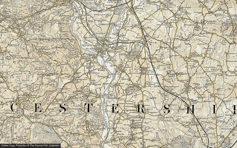 Old Map of Titton, 1901-1902 in 1901-1902