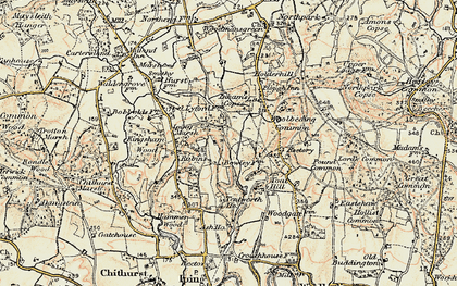 Old map of Titty Hill in 1897-1900