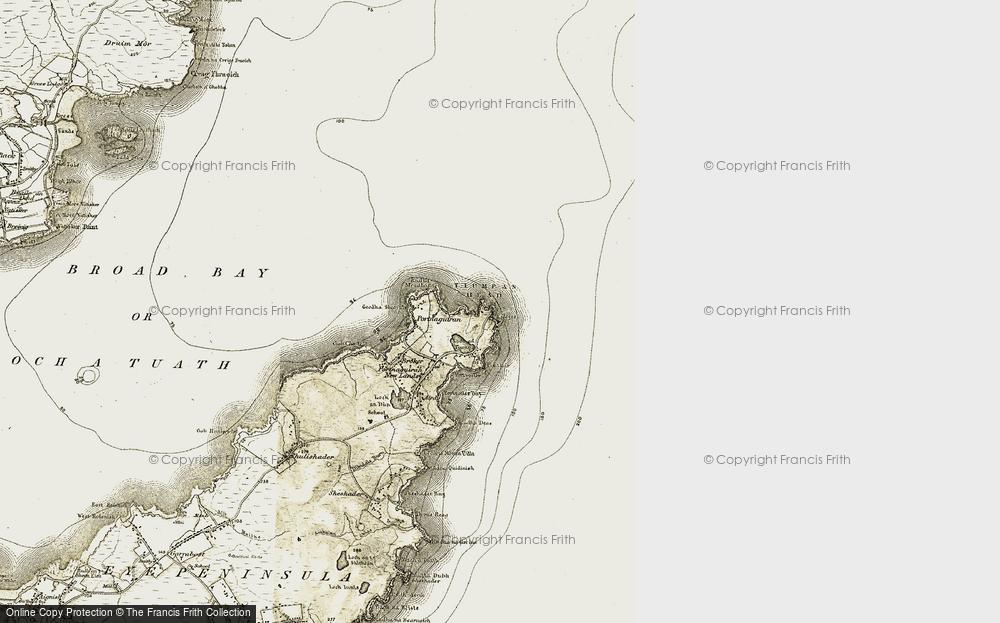 Old Map of Tiumpan Head, 1909-1911 in 1909-1911