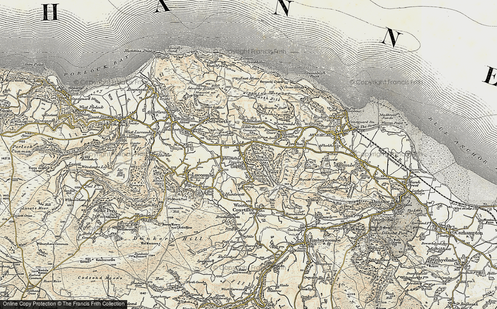 Old Map of Tivington, 1898-1900 in 1898-1900