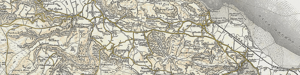 Old map of Tivington in 1898-1900