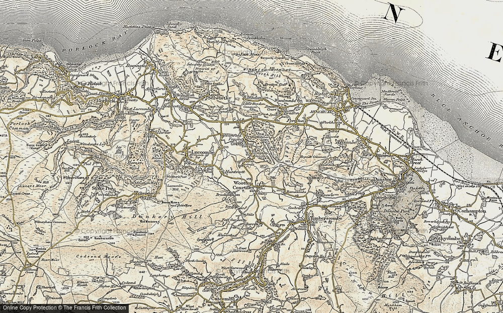 Old Map of Tivington Knowle, 1898-1900 in 1898-1900