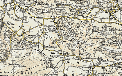Old map of Tivington Knowle in 1898-1900