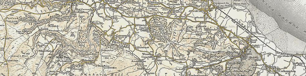 Old map of Tivington Common in 1898-1900