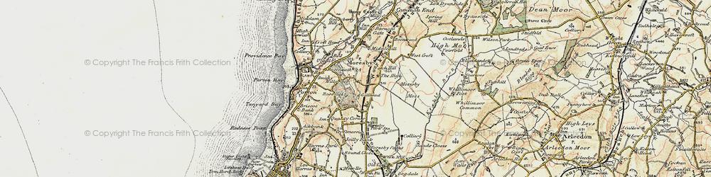Old map of Tivoli in 1901-1904