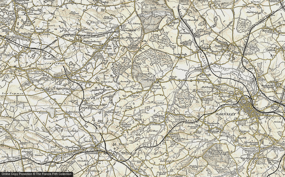 Old Map of Tivy Dale, 1903 in 1903