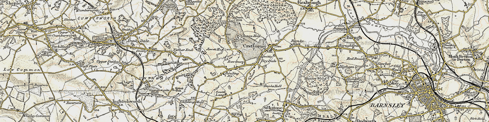 Old map of Tivy Dale in 1903