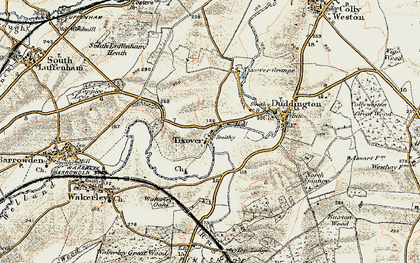 Old map of Tixover in 1901-1903