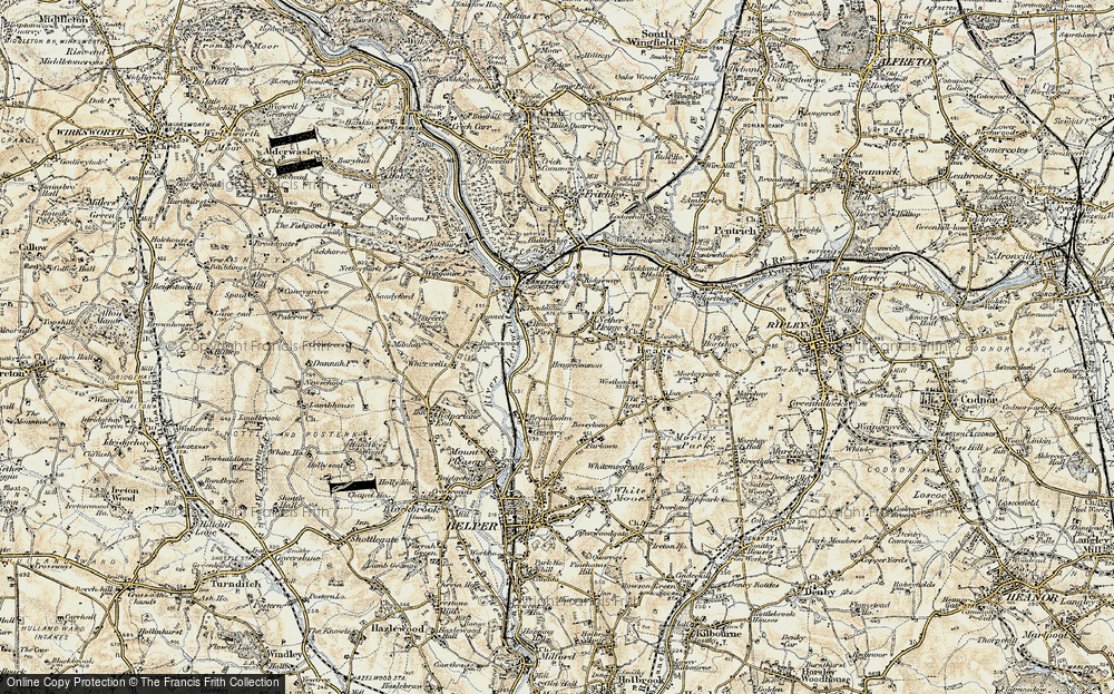 Old Map of Toadmoor, 1902 in 1902