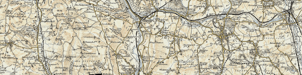 Old map of Toadmoor in 1902