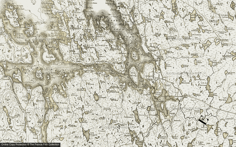 Old Map of Tobhtaral, 1911 in 1911