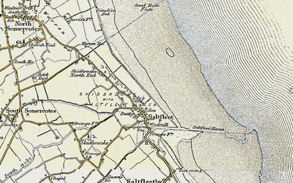 Old map of Toby's Hill in 1903-1908