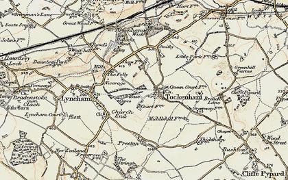 Old map of Tockenham in 1898-1899