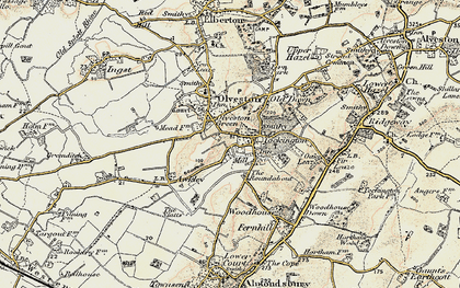 Old map of Tockington in 1899