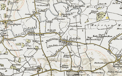 Old map of Wilstrop Wood in 1903-1904