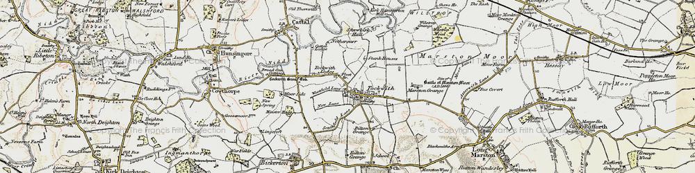 Old map of Wilstrop Wood in 1903-1904