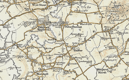 Old map of Todber in 1897-1909