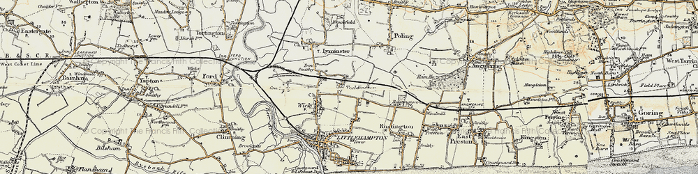 Old map of Toddington in 1897-1899