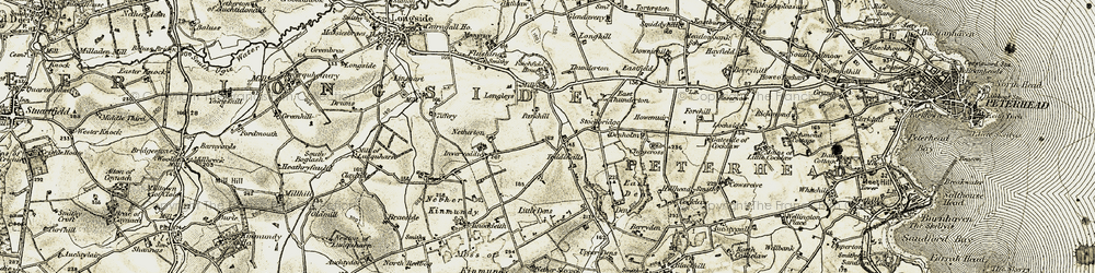 Old map of Toddlehills in 1909-1910