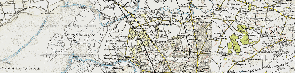 Old map of Young's Close in 1901-1904