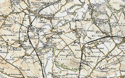 Old map of Todhills in 1903-1904