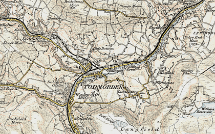 Old map of Todmorden in 1903