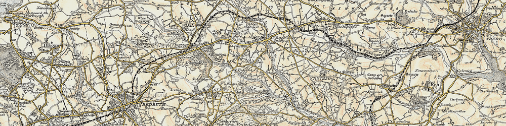 Old map of Todpool in 1900