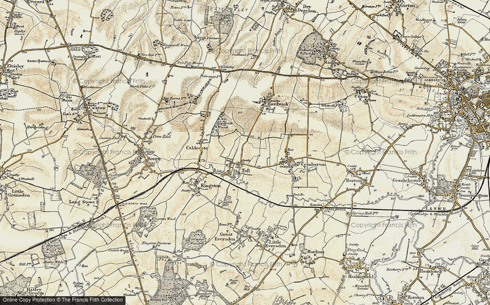 Old Map of Toft, 1899-1901 in 1899-1901