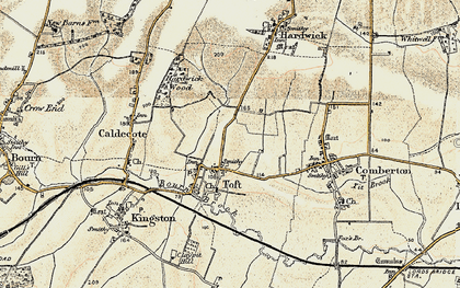 Old map of Toft in 1899-1901