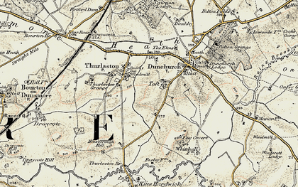 Old map of Toft in 1901-1902