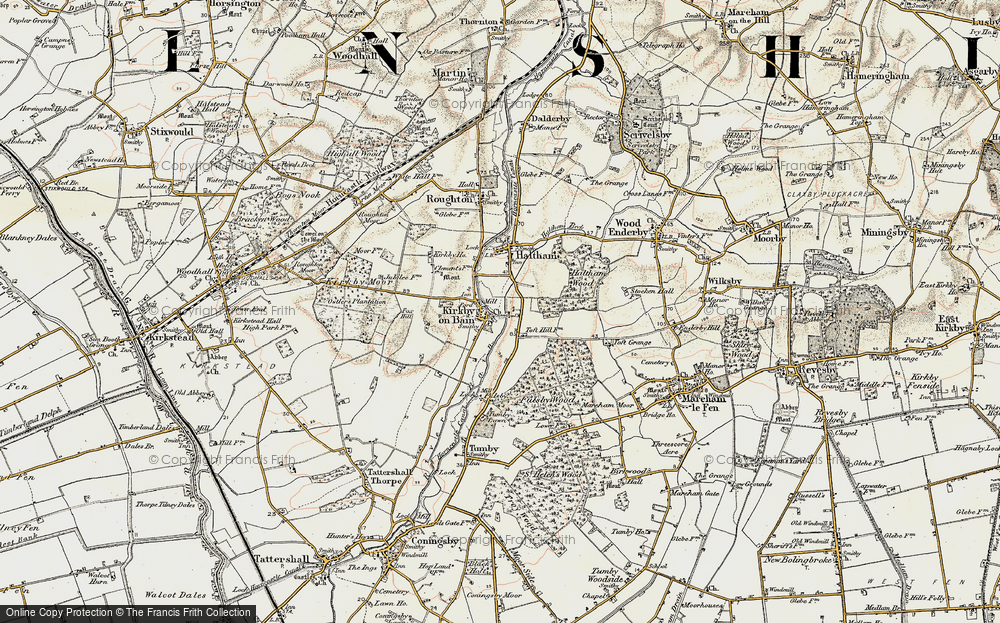 Old Map of Toft Hill, 1902-1903 in 1902-1903