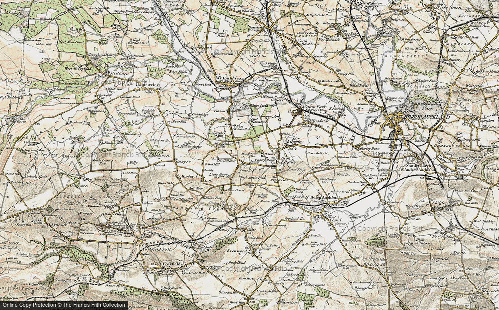 Old Map of Toft Hill, 1903-1904 in 1903-1904