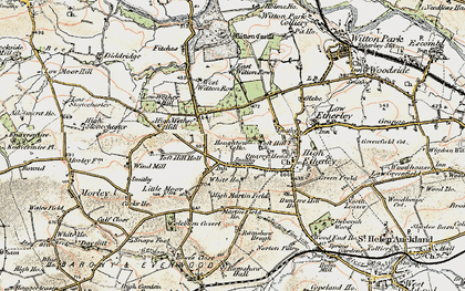 Old map of West Witton Row in 1903-1904