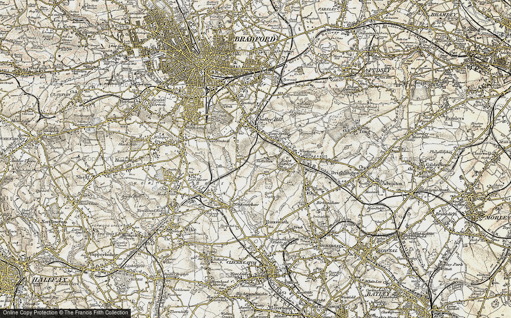Old Map of Toftshaw, 1903 in 1903