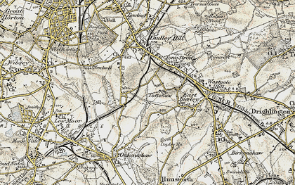 Old map of Toftshaw in 1903