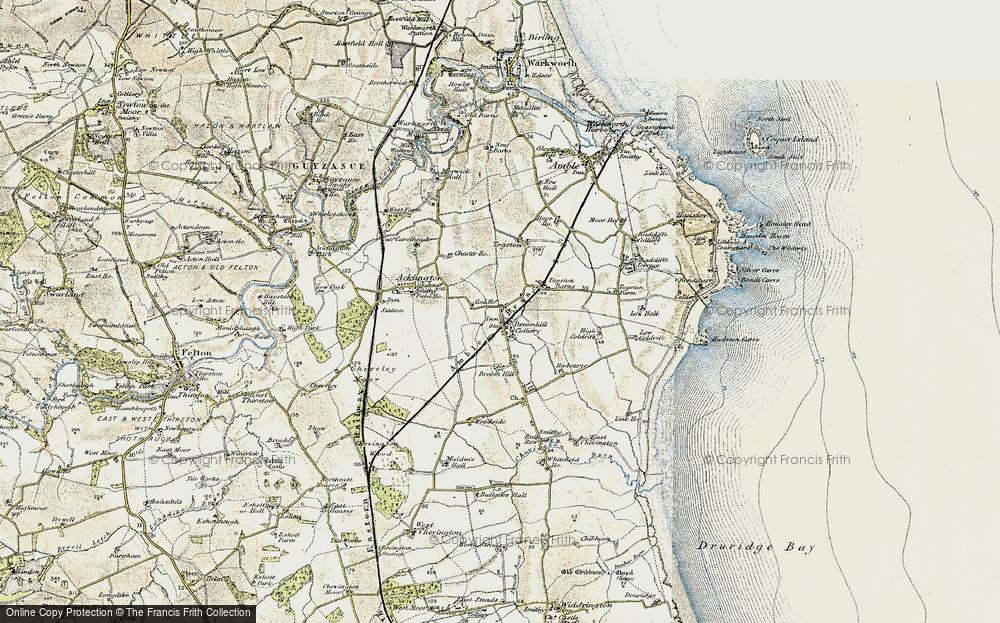 Old Map of Togston, 1901-1903 in 1901-1903