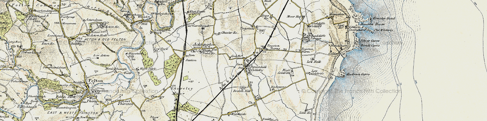Old map of Togston in 1901-1903