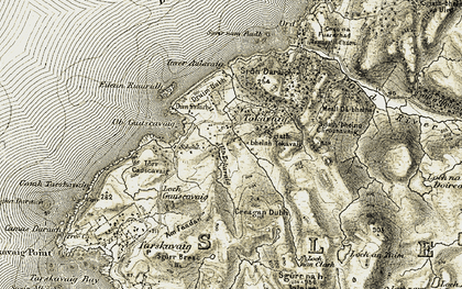 Old map of Allt Tokavaig in 1906-1908