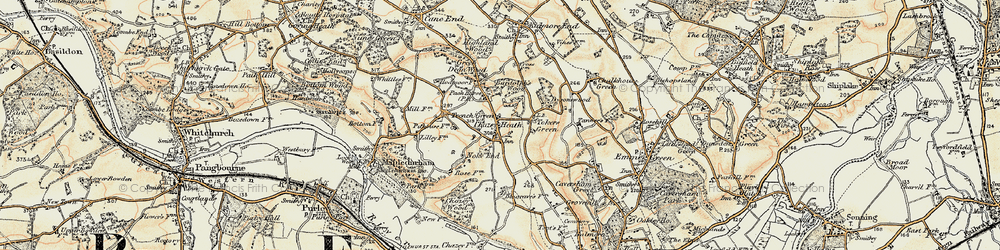 Old map of Tokers Green in 1897-1900